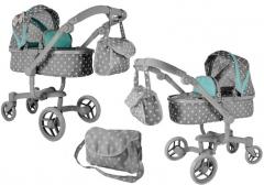 """Lėlių vežimėlis """"Alice"""", pilkas"""
