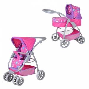 Lėlių vežimėlis Puppenkombi Coco Pink Splash