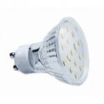 Lempa LED GU10 4W, 6000K, 230V, 320lm, 120°, 40000h, SMD-2835, plokščiu stiklu, GTV LD-SZ1510-64