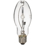 Lempa metalo halogenas E27 150W, 4200K, 230V, 12500lm, 10000h, elipsė (HDI-E/C), Duralamp 1D135NDL Halogēnu lampas