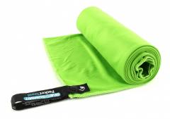 Lengvas mikropluošto rankšluostis Pocket Towel L 120 x 60 Šviesiai žalia Dvieļi
