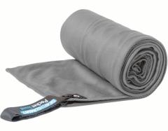 Lengvas mikropluošto rankšluostis Pocket Towel M 100 x 50 Pilka Dvieļi