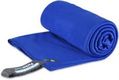 Lengvas mikropluošto rankšluostis Pocket Towel XL 150 x 75 Mėlyna Rankšluosčiai