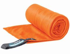 Lengvas mikropluošto rankšluostis Pocket Towel XL 150 x 75 Oranžinė