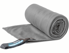 Lengvas mikropluošto rankšluostis Pocket Towel XL 150 x 75 Pilka