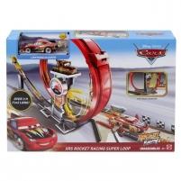 Lenktynių trasa GJW44 Disney Cars Toys Pixar Cars XRS Rocket Racing Super Loop Race Set with Lightning McQueen Car racing tracks for kids