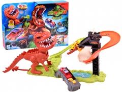 """Lenktynių trasa su dviem automobiliais """"Dinosaur T-rex launcher"""""""