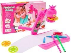 Lentelė su projektoriumi ir karūna + flomasteriai Lavinimo žaislai