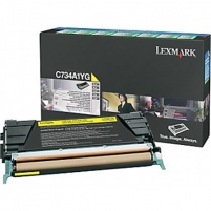 Lexmark C734, C736, X734, X736, X738 Yellow Return Programme Toner Cartridge (6K) for C734dn / C734dtn / C734dw