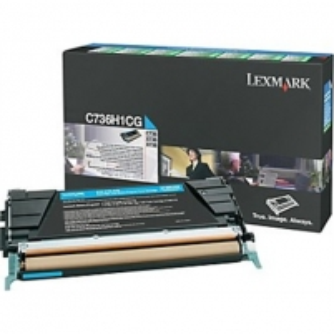 Lexmark C736, X736, X738 Cyan High Yield Return Programme Toner Cartridge (10K) for C736dn / C736dtn / C736n / X736de