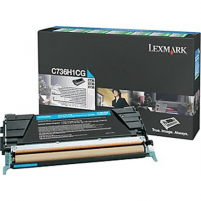 Lexmark C736, X736, X738 Cyan High Yield Return Programme Toner Cartridge (10K) for C736dn / C736dtn / C736n / X736de