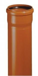 Lietaus nuotekų vamzdis PVC 160 x 4.0mm x 1m Kanalizācijas caurules