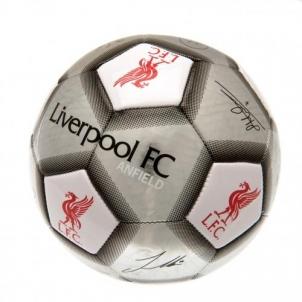 Liverpool F.C. futbolo kamuolys (Autografai. Pilkas)