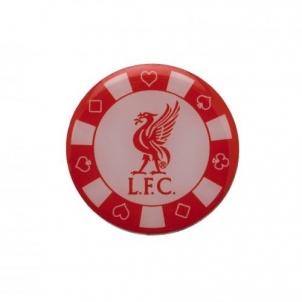 Liverpool F.C. prisegamas ženklelis - pokerio žetonas
