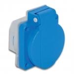 Lizdas 1P, 16A, įleidžiamas į panelę, IP54, pakuotėje 4vnt, TP-ELECTRIC 3101-310-0900 Industrial sockets