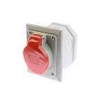 Lizdas 5P, 16A, įleidžiamas, su dėžute, IP44, 2622-420 Industrial sockets