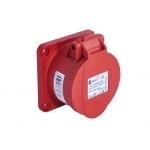Lizdas 5P, 16A, įleidžiamas į panelę, IP44, TP-ELECTRIC 3105-322-1675 Industrial sockets