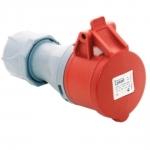 Lizdas 5P, 16A, nešiojamas, IP44, TP-ELECTRIC 3105-304-1600 Industrial sockets