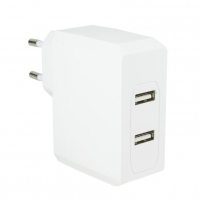 LOGILINK- Universal Wall Charger, 2x USB Ports 17 W