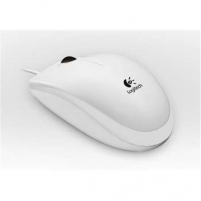 Logitech B100 Portable Mouse, White, Optical, USB, OEM Mouse