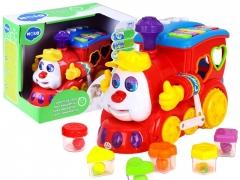 Lokomotyvas su spalvotais blokeliais (ZA0104) Музыкальные игрушки