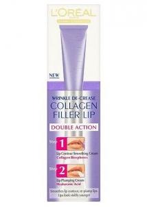 L´Oreal Paris Collagen Filler Lips Double Action Cosmetic 2x5ml Maskuojamosios priemonės veidui