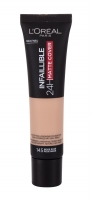 L´Oréal Paris Infallible 145 Rose Beige 24H Matte Cover Makeup 30ml Pamatojoties uz make-up uz sejas
