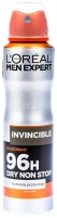L´Oreal Paris Men Expert 96h Invincible Deodorant Cosmetic 150ml Dezodorantai/ antiperspirantai