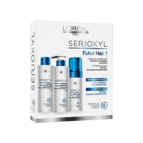Loreal Professionnel Set for natural thinning hair Serioxyl 1 (Fuller Hair For Natural Hair noticeable thinning)