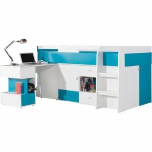 Lova su darbo stalu Mobi MO21 Baldų kolekcija Mobi
