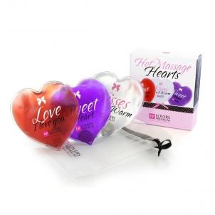 LoversPremium - Hot Massage Hearts (3 pcs) Išdykę preces