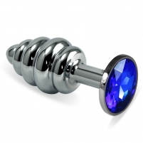 Lovetoy analinis kaištis Sužibėk (sidabro/mėlyna)