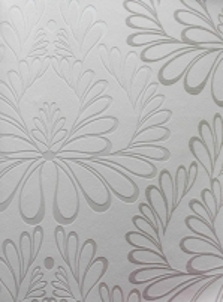 Tapetai LUCKY WALLS 4267-10, 10,00x0,53cm balti gėlėmis  Viniliniai tapetai