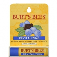 Lūpų balzamas Burt´s Bees (Revitalizing Blueberry & Dark Chocolate Lip Balm) 4,25 g Blizgesiai lūpoms
