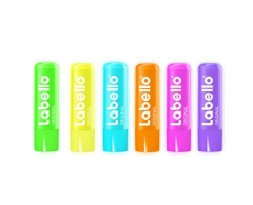 Lūpų balzamas Labello Original NEON (Lip Balm) 4,8, g Blizgesiai lūpoms