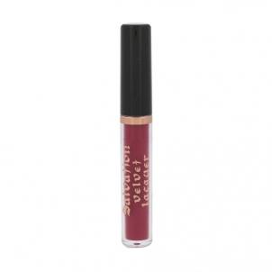 Lūpų blizgesys Makeup Revolution London Salvation Velvet Lip Lacquer Cosmetic 2ml Shade Velvet Rebel Blizgesiai lūpoms