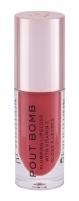Lūpų blizgis Makeup Revolution London Pout Bomb Juicy RED 4,6ml Blizgesiai lūpoms