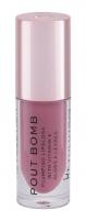 Lūpų blizgis Makeup Revolution London Pout Bomb Sauce PINK 4,6ml Blizgesiai lūpoms