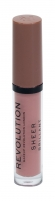 Lūpų blizgis Makeup Revolution London Sheer Brillant 110 Beige 3ml