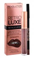 Lūpų dažai Makeup Revolution London Retro Luxe Dynasty Metallic Lip Kit Lipstick 5,5ml Lūpų dažai