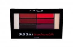 Lūpų dažai Maybelline Color Drama 01 Crimson Vixen Lip Contour Palette Lipstick 4g Lūpų dažai