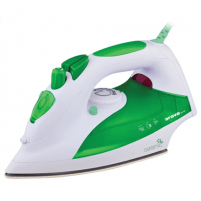 Lygintuvas ORAVA ZE-108 G White/green, 2000 W, Steam Iron, Anti-scale system, Vertical steam function, Water tank capacity 330 ml Lyginimo technika