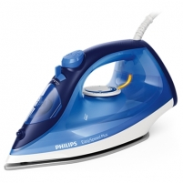 Lygintuvas Philips Iron EasySpeed Plus Blue, 2100 W, Steam iron, Continuous steam 30 g/min, Steam boost performance 110 g/min, Anti-drip function, Anti-scale system, Vertical steam function, Water tank capacity 270 ml