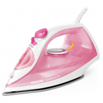 Lygintuvas Philips Iron EasySpeed Plus Rose/ white, 2000 W, Steam iron, Continuous steam 25 g/min, Steam boost performance 100 g/min, Anti-drip function, Anti-scale system, Vertical steam function, Water tank capacity 270 ml