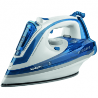 Lygintuvas Scarlett SC - SI30K29 Blue, 2600 W, Steam iron, Continuous steam 45 g/min, Steam boost performance 190 g/min, Auto power off, Anti-drip function, Anti-scale system, Vertical steam function, Water tank capacity 480 ml Ironing equipment