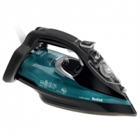 Lygintuvas TEFAL Ultimate FV9785E0 Black/Green, 3000 W, With cord, Continuous steam 55 g/min, Steam boost performance 230 g/min, Auto power off, Anti-drip function, Anti-scale system, Vertical steam function, Water tank capacity 350 ml