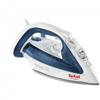 Lygintuvas TEFAL Ultragliss FV4913E0 White/ blue, 2500 W, Steam iron, Continuous steam 40 g/min, Steam boost performance 270 g/min, Anti-drip function, Anti-scale system, Vertical steam function, Water tank capacity 270 ml