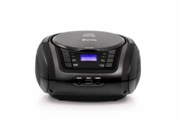 Magnetola Vakoss Boombox PF-6542K / CD/ FM/ USB/ LCD ekranas, juoda Magnetolos
