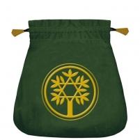 Maišelis kortoms Celtic Tree satininis žalias