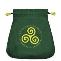Maišelis kortoms Celtic Triskel satininis žalias